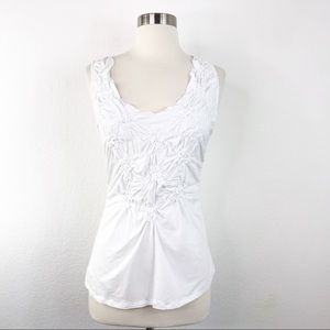Garnet Hill / White Rouched Side Front  XS